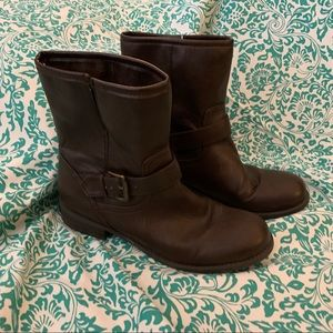 Brown Moto Style Boots